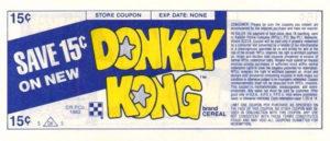 Donkey Kong Cereal Coupon Back