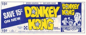 Donkey Kong Cereal Coupon Front