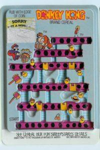 Donkey Kong Cereal Rub-off Card 2