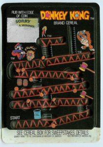 Donkey Kong Cereal Rub-off Card 3