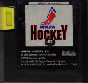 NHLPA Hockey '93 Cartridge