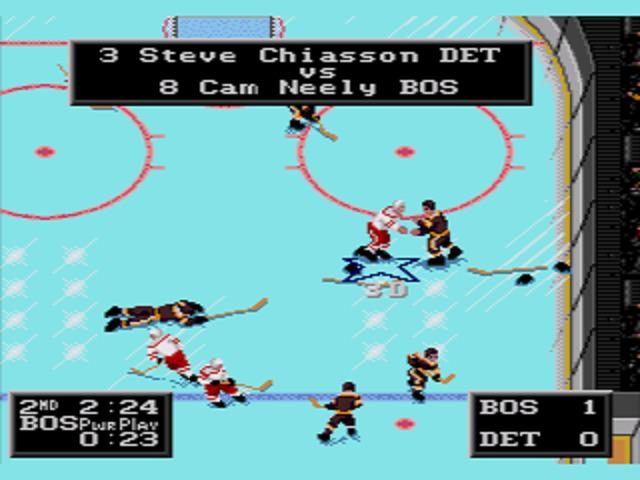NHLPA Hockey '93 Fighting
