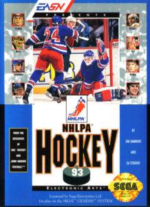 NHLPA Hockey '93 Genesis Box