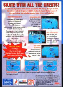 NHLPA Hockey '93 Genesis Box Back