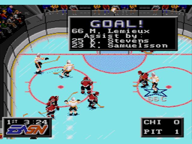 NHLPA Hockey '93 Goal