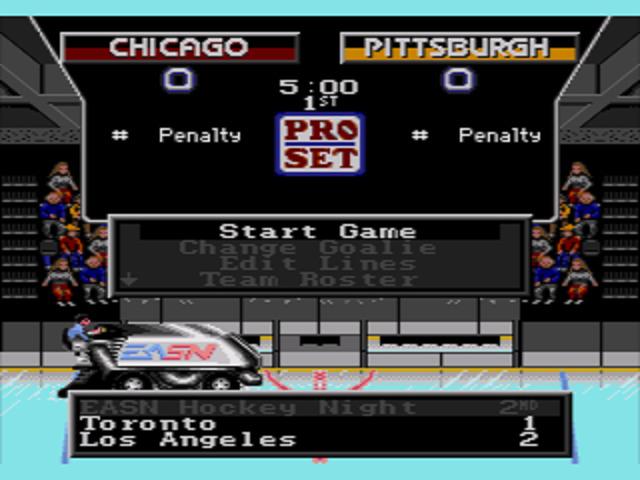 NHLPA Hockey '93 Intermission