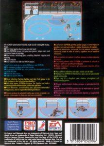 NHLPA Hockey '93 Mega Drive Box Back