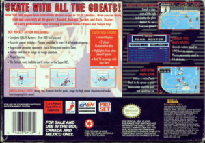 NHLPA Hockey '93 SNES Box Back