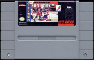NHLPA Hockey '93 SNES Cartridge