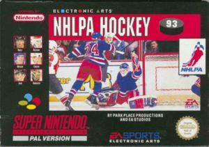NHLPA Hockey '93 SNES European Box
