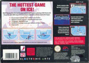 NHLPA Hockey '93 SNES European Box Back