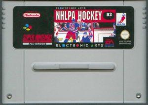 NHLPA Hockey '93 SNES European Cartridge