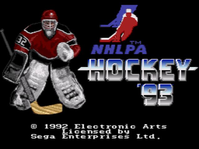 NHLPA Hockey '93 Title Screen