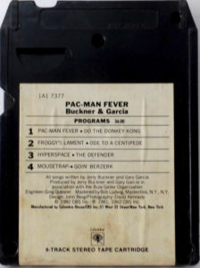 Pac-Man Fever 8-Track Back