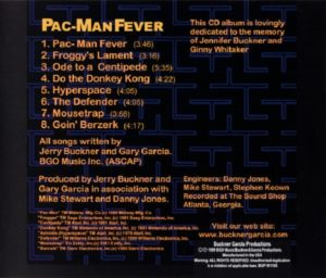 Pac-Man Fever CD Cover Back