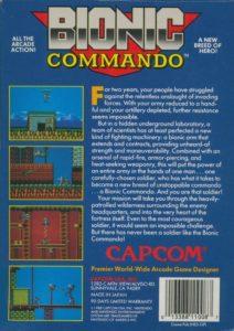 Bionic Commando Box Back