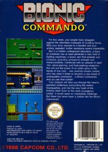Bionic Commando European Box Back