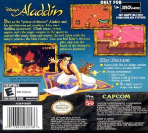 Disney's Aladdin Game Boy Advance Box Back