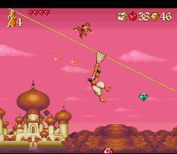 Disney's Aladdin SNES - Above Agrabah