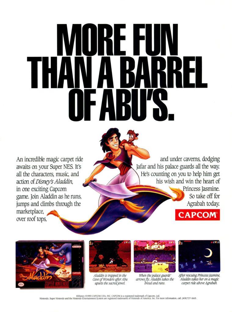 Disney's Aladdin SNES Advertisement