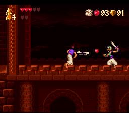Disney's Aladdin SNES - Attack
