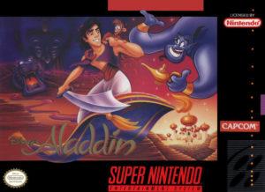 Disney's Aladdin SNES Box