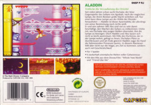 Disney's Aladdin SNES European Box Back
