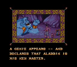 Disney's Aladdin SNES - Genie