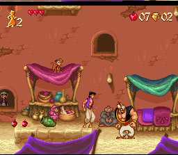 Disney's Aladdin SNES - Start Screen