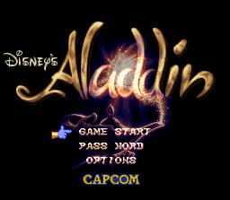 Disney's Aladdin SNES - Title Screen