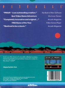 Pitfall Atari 5200 Box Back