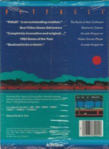 Pitfall Atari 8-bit Box Back