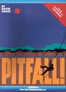 Pitfall Commodore 64 Box
