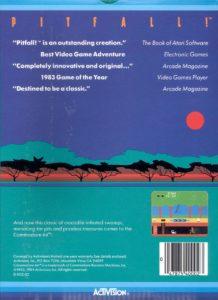 Pitfall Commodore 64 Box Back