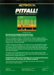 Pitfall Intellivision Box Back
