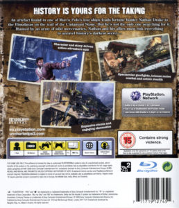Uncharted 2 - Among Thieves European Box Back