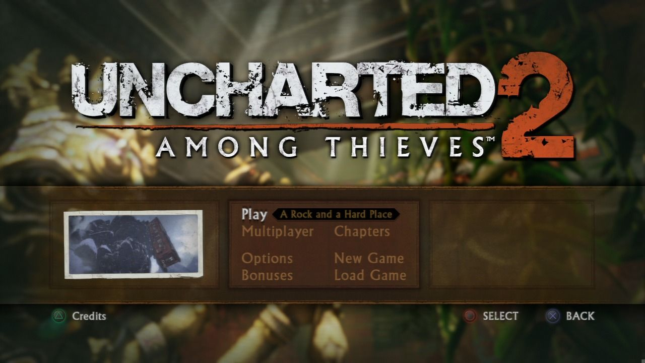 Uncharted 2 - Among Thieves - Title Screen