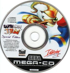 Earthworm Jim Mega CD Disc