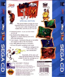 Earthworm Jim Sega CD Box Back