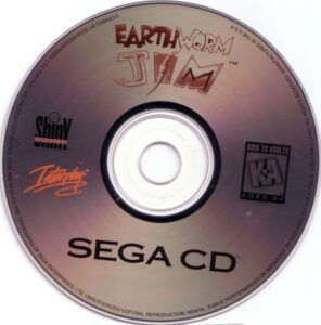 Earthworm Jim Sega CD Disc