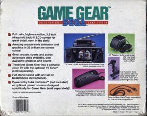 Game Gear Box Back