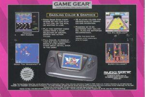 Game Gear Majesco Box Back