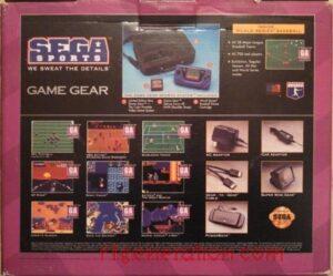 Game Gear Sports Box Back