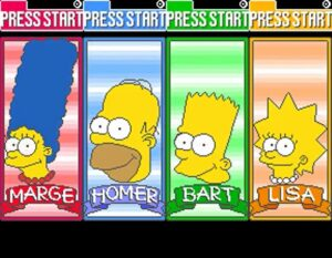 The Simpsons Arcade Game - 4 Players