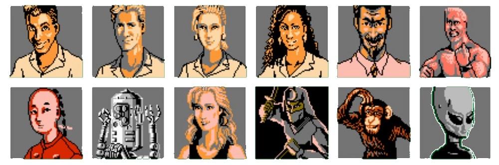 Magic Darts - Characters