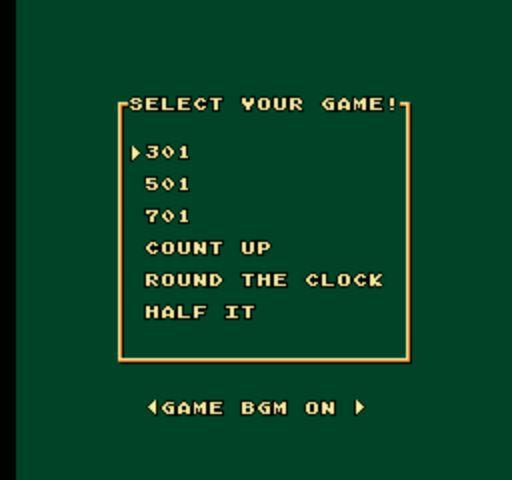 Magic Darts - Game Select