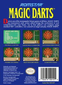 Magic Darts NES Box Back