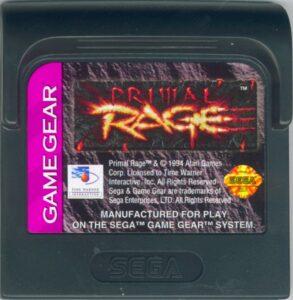 Primal Rage GG Cartridge