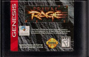 Primal Rage Genesis Cartridge