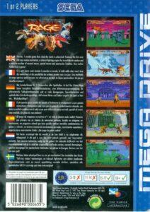 Primal Rage Mega Drive Box Back